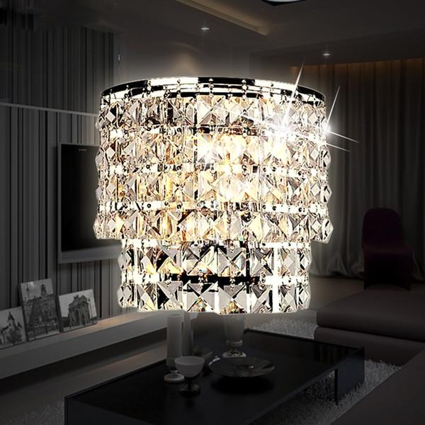 Klassische Kristall Kronleuchter Wandleuchte Gold Kristall Wandleuchte Lampe LED Foyer Wohnzimmer Nachttischlampe Glas Kristall Wandleuchte