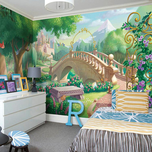 Custom Photo Wallpaper Children's Room Cartoon Fairy-tale World Of Large Murals Bedroom Living Room Mural Wallpaper