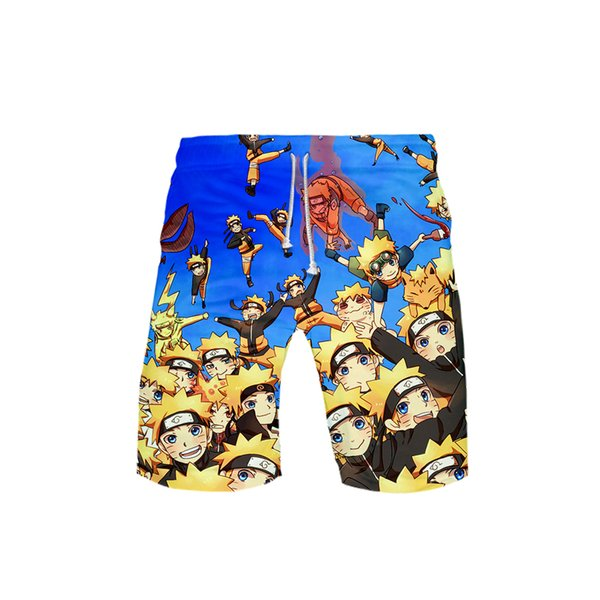 2019 HIP HOP FASHION 3D NARUTO Print male summer New Casual Cool and breathable style beach men shorts male Tops Hot sales 3D