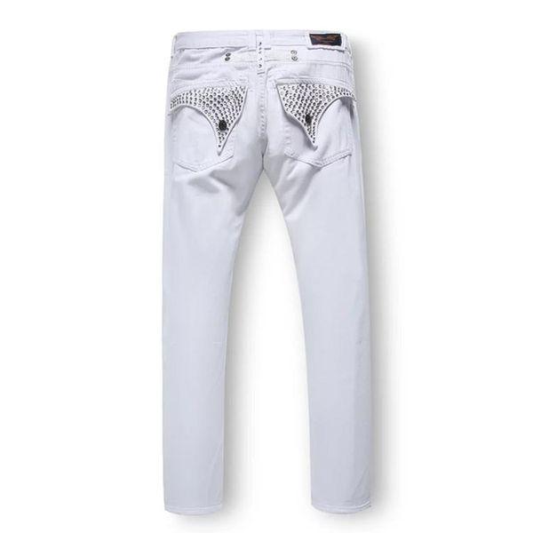 2019 Hip Hop Livraison gratuite Mens Robin Rock Revival Designer Jeans Denim Pantalons Cristal Goujons Designer Pantalon taille hommes 32-42 Nouveau