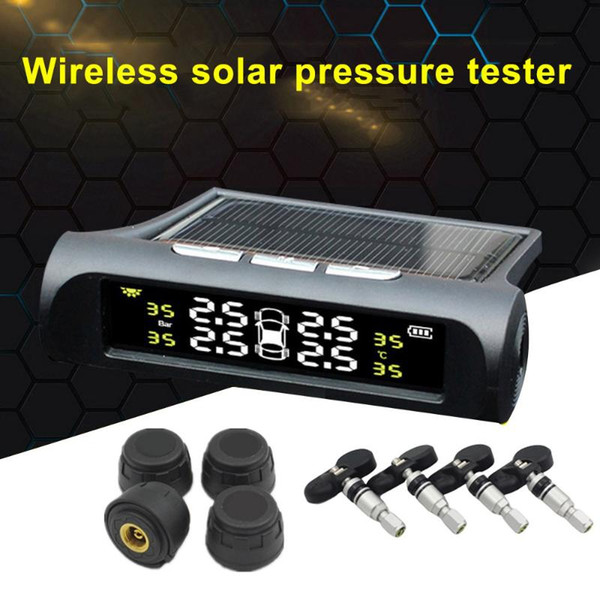 best selling Car TPMS Tire Pressure Monitoring System Tester Smart Solar Energy Digital LCD Display Automatic Security Alarm Professional