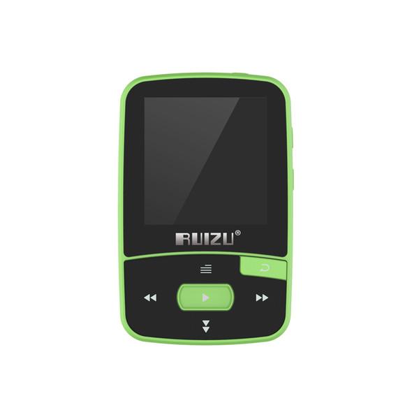 RUIZU X50 8GB MP3 Player Quality 1.5inch Bluetooth HiFi Lossless Sound Pedometer TF Card FM Radio Recording Time Calendar