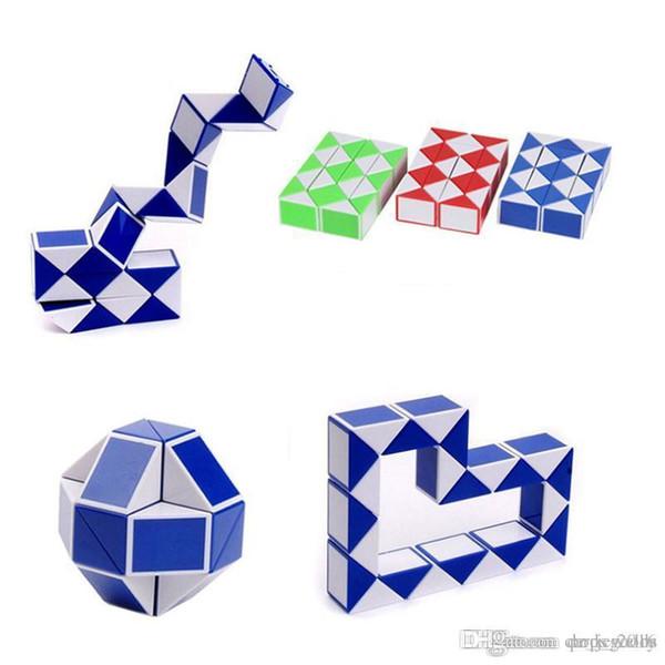 Mini Magic Cube Nuovo Hot Snake Shape Toy Gioco 3D Cube Puzzle Twist Puzzle Toy Regalo Giocattoli di intelligenza casuale Supertop Regali