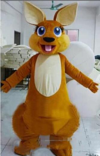 Tamanho adulto Floresta Animal Marrom Canguru Mascote Traje Do Partido Do Traje Da Mascote Outfit Frete Grátis