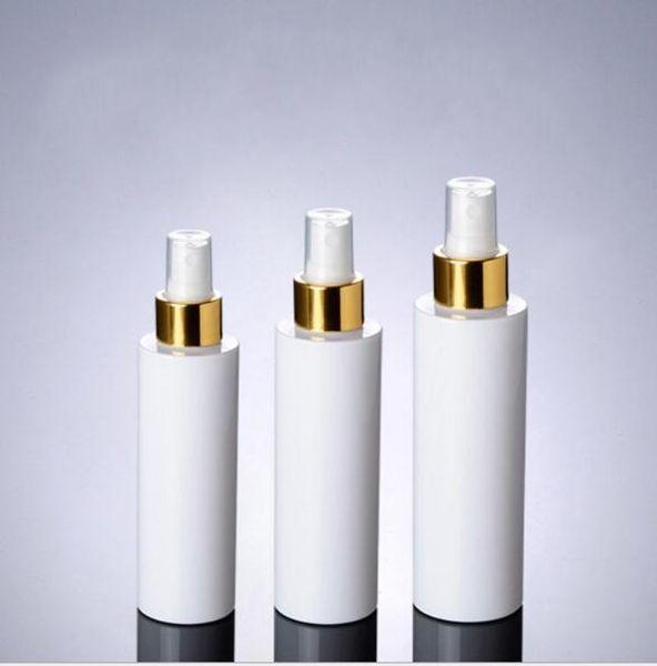 100ml 150ml 200ml bomba de pulverización blanca botellas blancas contenedores, botella de aerosol plástica blanca vacía para envases cosméticos