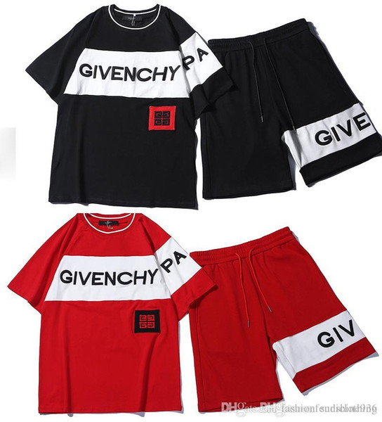 2019 newest GIV Sport Tracksuit breast short-sleeved t shirts short sleeve shirts two-piece breast wipe pants sports suit women