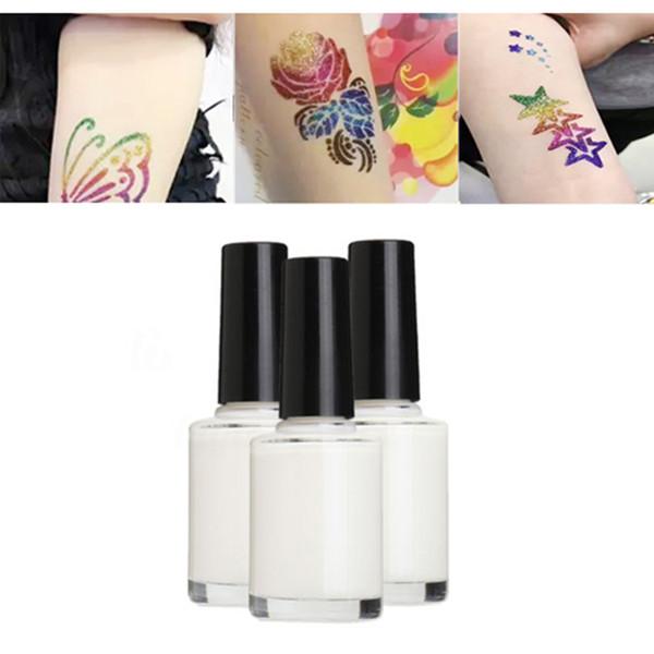 1 unid 15 ml Glitter Tattoo Glue Gel Para Larga Duración Tatuaje Temporal Pinturas Corporales Arte Cosméticos Keeper No tóxico Glitter Pintura