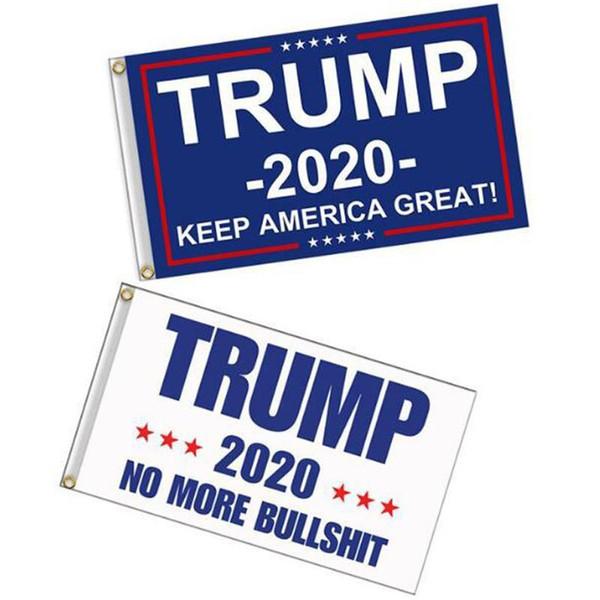 90 * 150 cm Donald Trump Amercia Flag Poliéster Confederado Bandera Head Metal Grommet Personalidad Decoración Trump 2020 Keep Great Banner VT1738