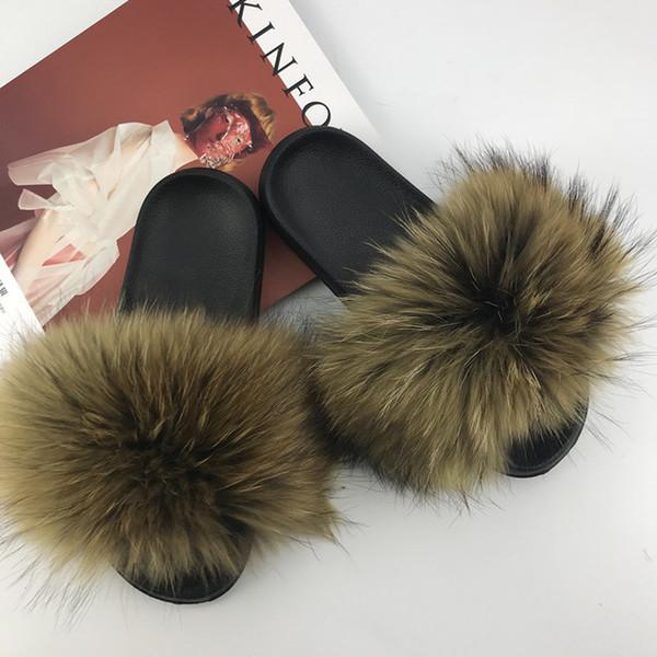 Raton laveur slippers_8 fourrure
