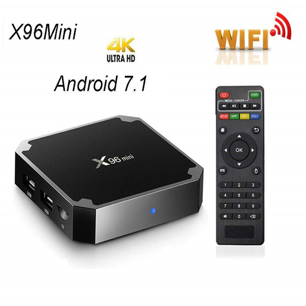 top popular X96 mini Smart Android TV box 2GB 16GB 2.4G WiFi Media player Amlogic S905W Quad Core Set Top boxes 2020