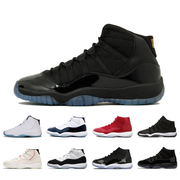 New Fashion 11s basketball shoes classic men sneakers Gamma Blue Concord High Space Jams Prom Night 11 mens sports sneakers size 36-47
