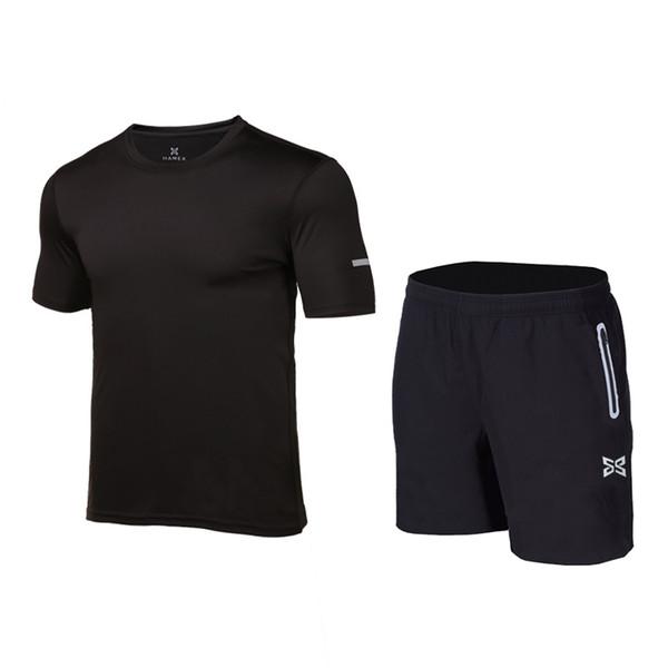 2017 neue quick dry männer laufen trainning sets atmungsaktive sport jogging übung anzug kurze yoga gym set fitness kleidung für männer t2190615