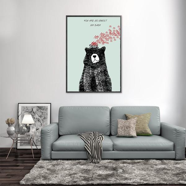 Acheter Motif De Dessin Animé Peinture à La Maison Maison Art Déco Peinture Murale Aucun Cadre Peinture à L Huile Abstrait Peinture Murale Toile Salon
