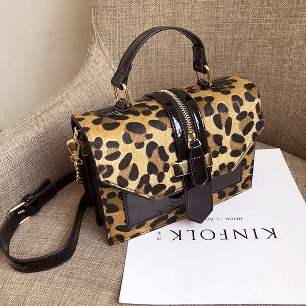 Retro Small Leopard Print Flap Bags For Women 2018 Leather Mini Handbag Ladies Shoulder Bag Lady Messenger Crossbody Hand Bag