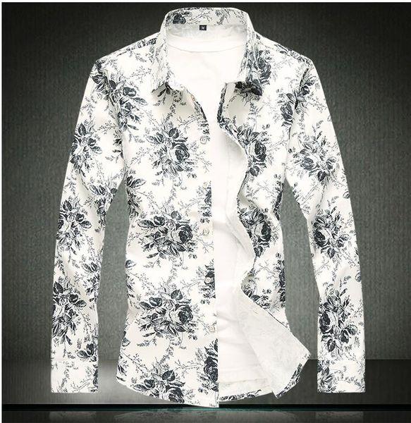 Тонкий рубашка с длинным рукавом для мужчин 2019 Новый дизайнер одежды высокого качества Solid Мужская одежда Fit Деловые рубашки M-5XL