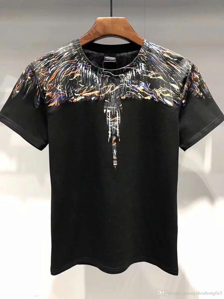 nouveau Marcelo Burlon Hommes Milan Ailes De Plumes T Shirt Hommes Femmes Couple Défilé De Mode RODEO MAGAZINE T Shirts Goros camisetas