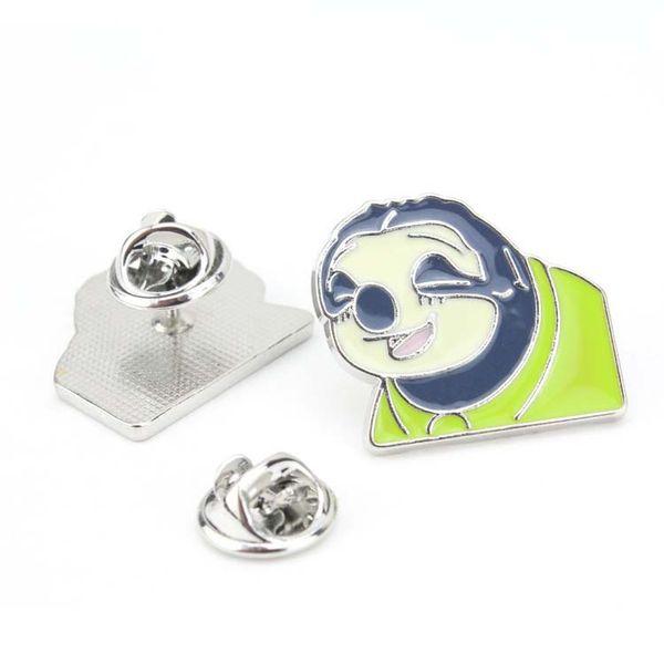 Sloth Emaille Pin-Karikatur-nette Tierbrosche Sammlung Metall-Revers-Abzeichen Broschen für Frauen Männer Schmuck Geschenke
