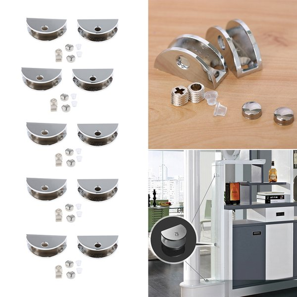 best selling 10pcs Bracket Holder Shelves Adjustable Bathroom Glass Clamp Support Clips for 6-8 mm Thickness Glass
