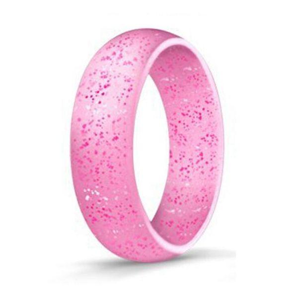 Al aire libre colorido Anillo de silicona Unisex Flexible de goma hipoalergénica Silicona O-Rings Wedding Sports Band Anillos envío gratis