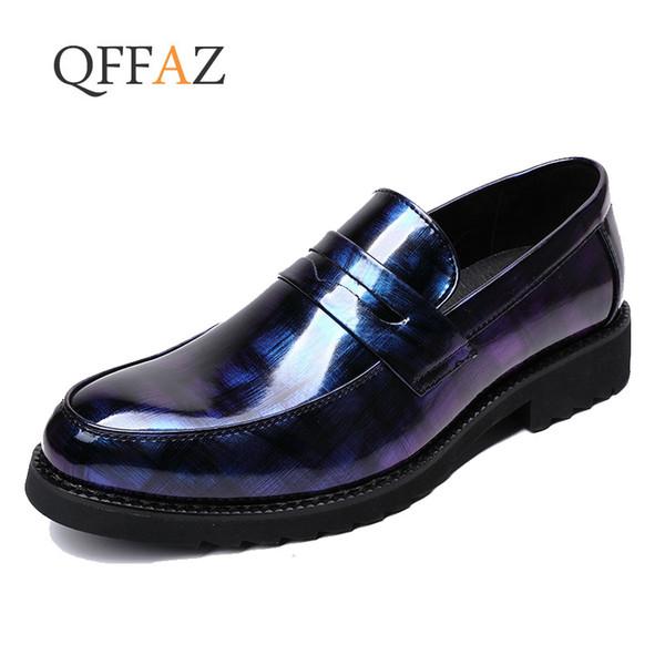 QFFAZ Business Oxford En Cuir Chaussures Hommes Caoutchouc Respirant Formelle Robe Habillée Mâle Bureau De Mariage Appartements Chaussures