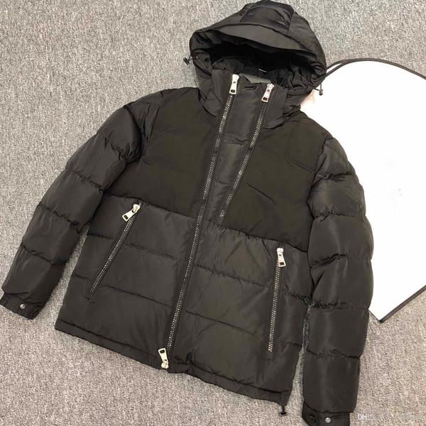 2019 manteaux d'hiver de mode pour les hommes vestes épissé veste en duvet noir double fermeture éclair veste homme fermeture à glissière LaVeda INCLINÉ