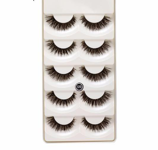 5 Pair/set False Eyelashes Black Cross Fake Eye Lashes Natural Long Makeup Extension Fake Eyelashes 2019