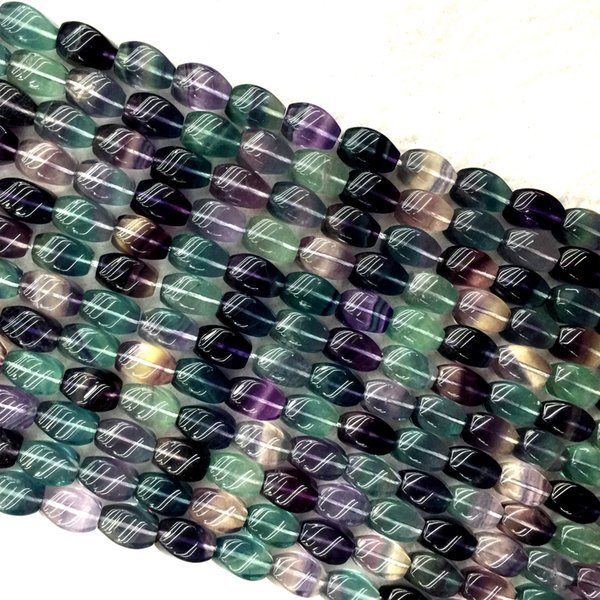 30 fluorites colonnes perles semi-précieuses
