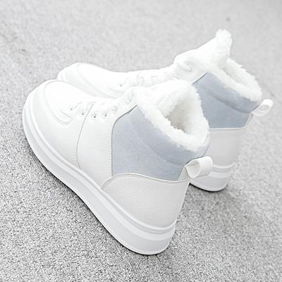 New style snowshoes for girls style ankle boots for winter with extra fleece and thick warm student cotton-padded shoes