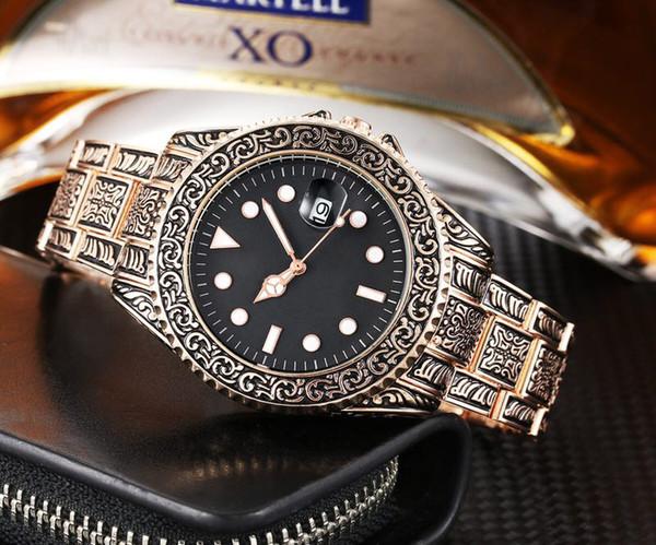 vintage style luxury watch mens designer watches 5 styles gold silver man quartz movement wristwatches montre de luxe