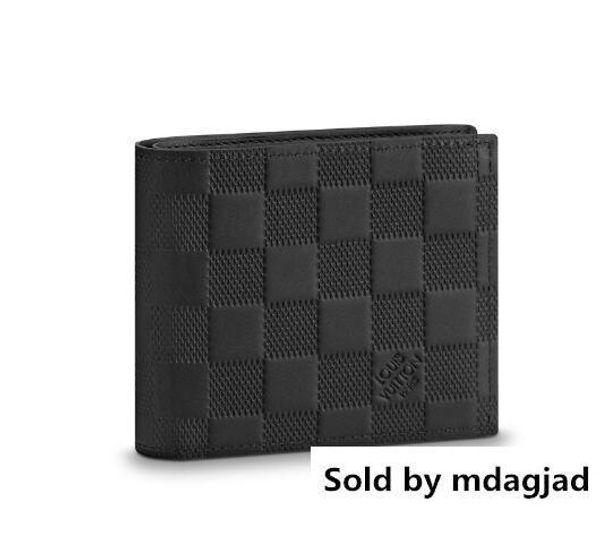 Marco Wallet N63334 Hombres Cinturón de cuero exótico Bolsas icónicas Embragues Cartera Carteras Monedero