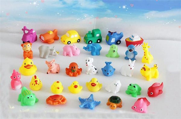 Juxu Promotion Sale Mini Rubber Ducks Animals Baby Bath Water Toys For Sale Kids Bath PVC Duck Animals With Sound Floating Duch