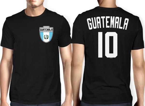 Guatemala Jersey- Football Futbol Sports Crest Country Pride Hommes T-shirt Hommes 2018 Nouveau T-shirt Officiel T-shirt Nouvelle Marque T-shirt