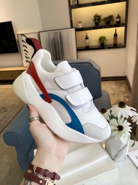 Women Rhyton Casual Shoes Classic Paris Dad Platform Leather Shoes Sneakers Thick Bottom Dad Sneaker Zapatos 35-41