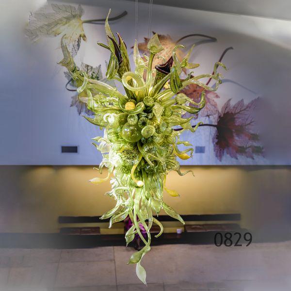 Lustre classique Flower LED E14 jardin Escalier en cristal moderne LED Lustre pour Salon Chambre Cuisine LUMINAIRES