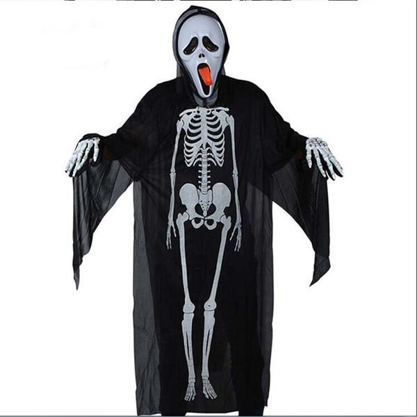 US Unisex Adult Human Skeleton Halloween Cosplay Zentai Costume Party Props
