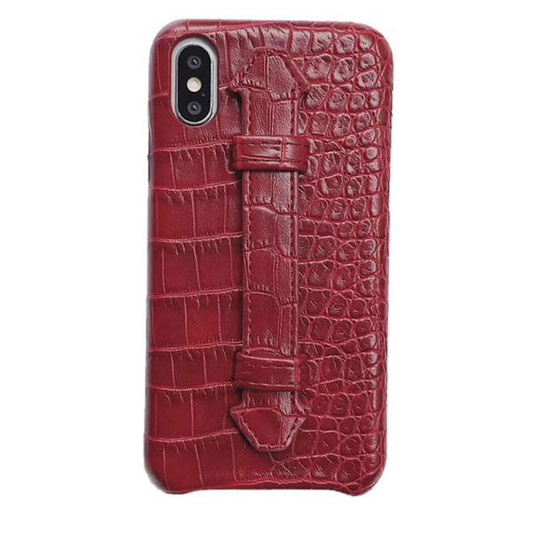 Drop Shipping Schlangen-Haut-Kästen für Apple iPhone 11 PRO XS MAX Schutz PU-Leder-rückseitige Abdeckung Coque Fundas Withe Lanyard Ständer
