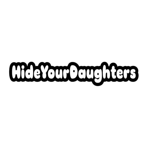 Cachez votre fille autocollant Fun Père Famille Emballage de vinyle ethnique Personnalité Décoratif Applique