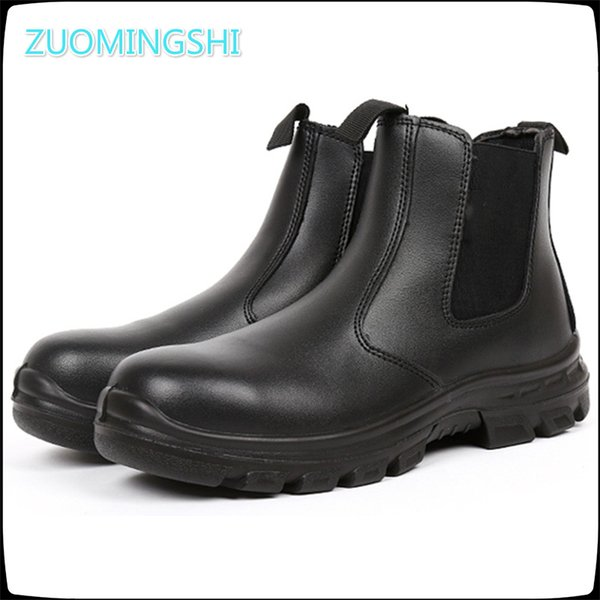 ac6ba317fa7 Men'S Leather Winter Steel Toe Cap Work Safety Shoes Men Outdoor Anti Slip  Steel Puncture Proof Construction Safety Boots Shoes Heels Boot From ...