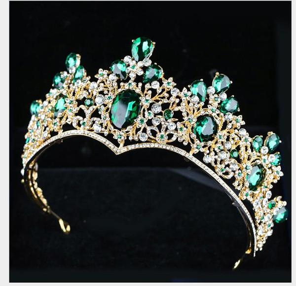 Crown Headwear 2019 New European and American Alloy Beautiful Atmospheric Bride Headwear Crown