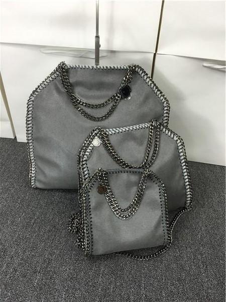 809 styles W37cm * H36 cm* D8cm 17 color Women's fold over 3 Chain big size Tote shoulder Bags Measurement :