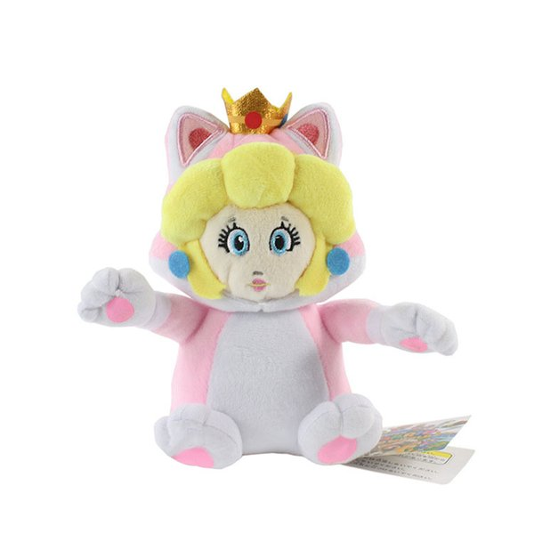 Hot Sale 6inch 15cm Daisy Princess Cat Super Mario Bros Plush Stuffed Doll Toy For Kids Best Holiday Gifts