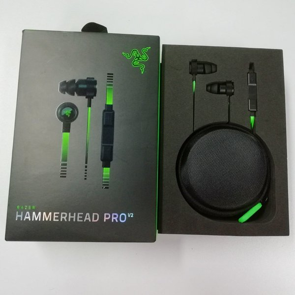 New Released Razer Hammerhead Pro V2 Headphone In Ear Earphone With Microphone Gaming Headsets Noise Isolation Stereo Bass