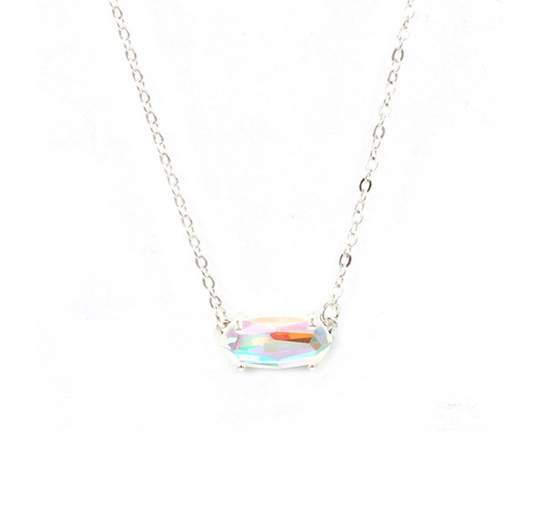 8Silver AB necklace