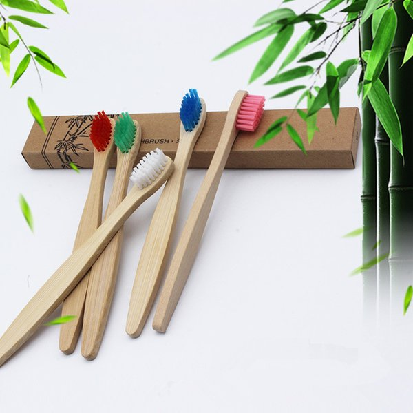 Hot Eco Friendly Natural Bamboo Toothbrush for children soft bristle wood teeth brushes kids Dental Care with Retail Box For kids toothbrush