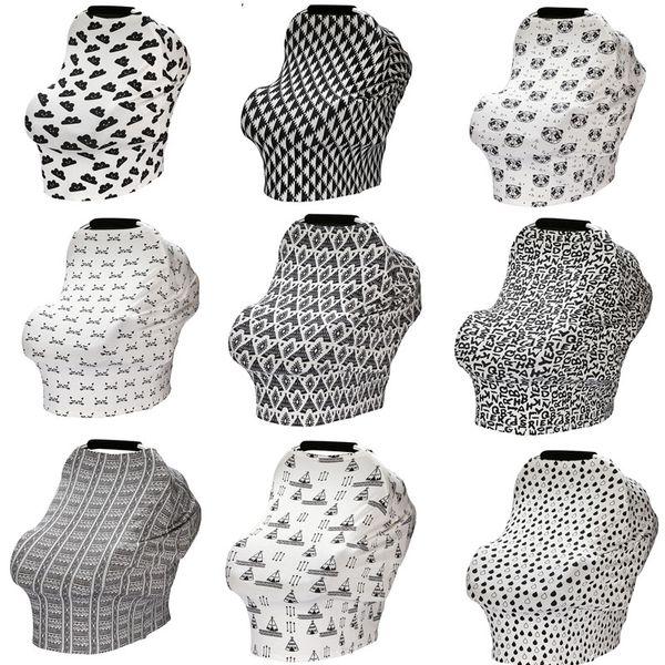 Accessoires de transport de bébé multi-fonctions 33 Design Dot Rayé Plaid Fleur Imprimé Bébé Couverture De Voiture Tissu De Voiture Siège De Couverture