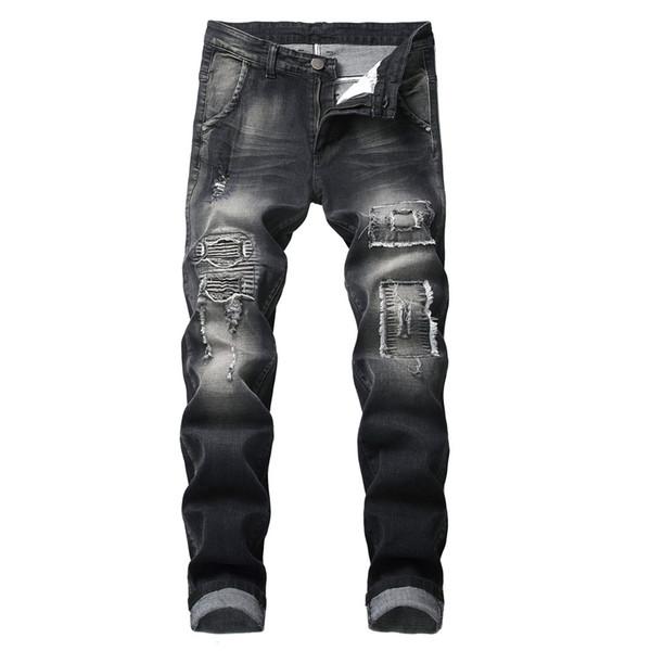 Vintage Hip Hop Streetwear Novelty Casual Harajuku Jeans Punk Rock Men Jeans Party Elegant Pant Hollow Out Cool Trousers