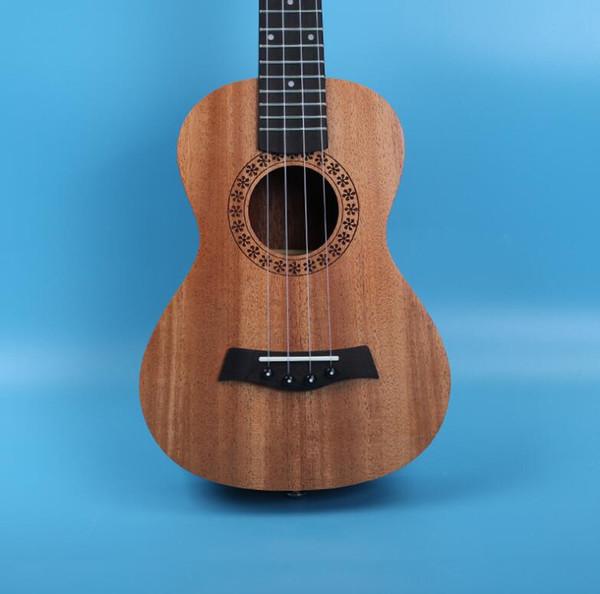 Envío gratis 23 pulgadas ukelele caoba uklele Hawaiian cuatro cuerdas pequeña guitarra