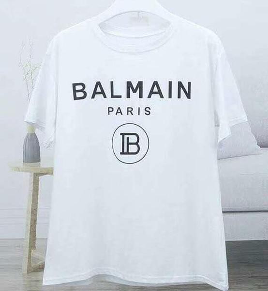 20Balmain Мужские дизайнерские футболки Черный Белый Красный Мужские Модные футболки Топ с коротким рукавом S-XXL