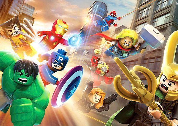 Marvel Avengers Lego Decor wall Art Silk Poster 24x36inch 24x43inch