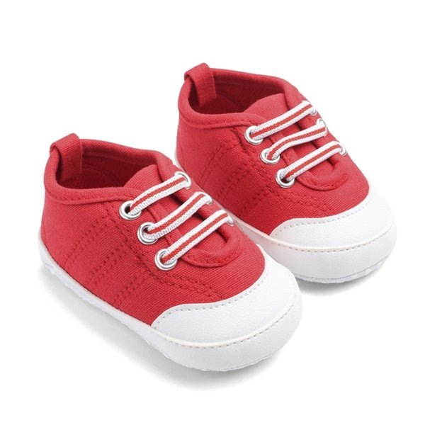Baby Boys Girls Spring Shoes Breathable Canvas Design Anti-Slip Shoes Sneakers Toddler Soft Soled First Walkers